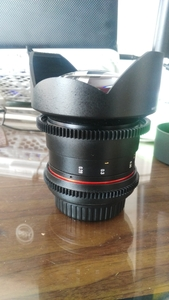 三阳14mm F2.8 T3.1镜头超广角电影头佳能
