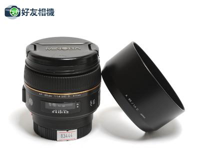 美能达/Minolta AF 85mm F/1.4 G (D) 镜头 索尼Alpha用 *美品*