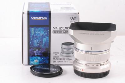 99/奥林巴斯 M.ZUIKO DIGITAL ED 12/2.0(带原厂遮光罩 带包装)