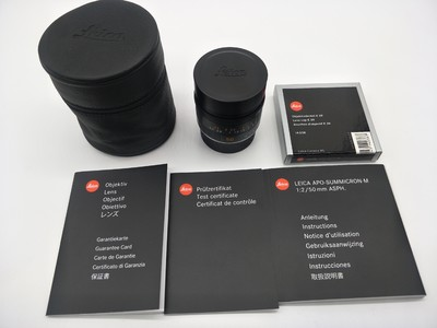 Leica APO Summicron-M 50 mm f/ 2 ASPH 全包装99新 徕卡50/2AA