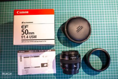 98新自用一手佳能 EF 50mm f/1.4 USM国行配件齐全