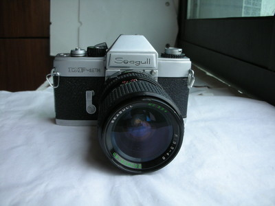 很新海鸥DF--1ETM金属制造单反相机带28--80mm镜头,收藏使用