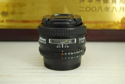 尼康 50mm F1.4D 单反镜头 超大光圈 定焦 专业人像标头