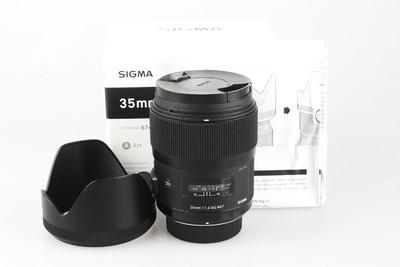 98新 适马 35mm f/1.4 DG HSM(A)尼康口