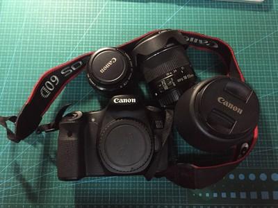 佳能 60D 带3个镜头18-55、55-250、小痰盂 打包3800