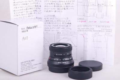 宫崎光学 PETZ 57/2 F-MC BL 黑色镜头 2018年新款#JP