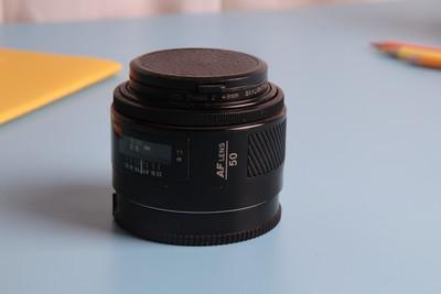 自用9成新美能达 AF 50 F1.7标准定焦镜头 自动对焦 索尼单反可用