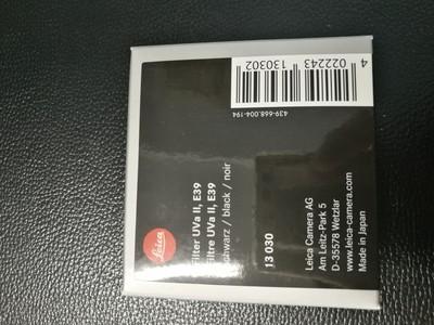 徕卡39mm 原装UV  13030