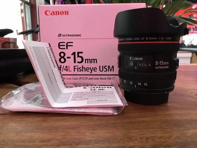 佳能 EF 8-15mm f/4L USM 鱼眼 成色98新