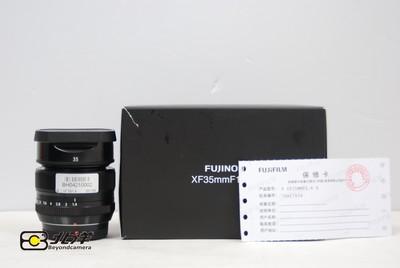 98新富士 XF35/1.4 R行货带包装发票(BH04210002)