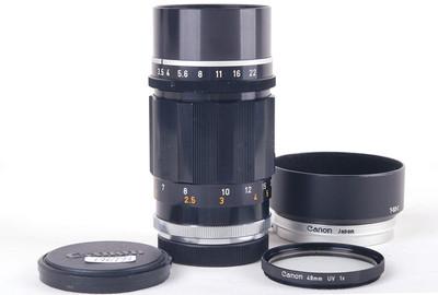 【美品】佳能 135/3.5 LTM 黑色旁轴镜头徕卡L39口#jp19679X