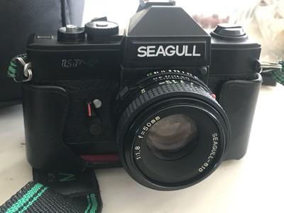 海鸥DF-2全机械单反胶片机。带50/1.8镜头,原机套