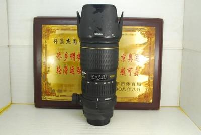 佳能口 适马 70-200 F2.8 APO HSM 小黑 单反镜头 恒圈长焦