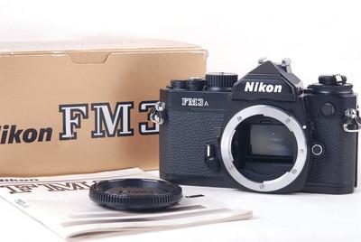 【美品】Nikon/尼康 FM3A 黑色 带包装 #jp19731
