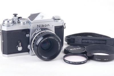 尼康 大F尖顶 +50/2银色套机 带遮光罩送滤镜 #jp19739