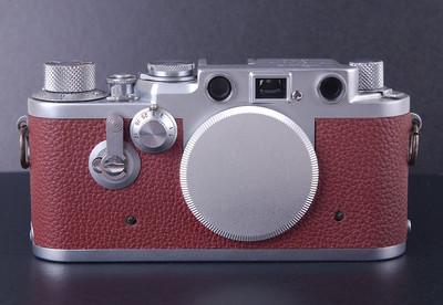 徕卡 IIIF 红盘 带自拍 L39螺口红色蒙皮 #jp19749