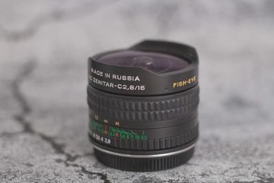 泽尼特zenit 16mm f2.8 鱼眼 佳能口