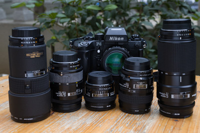 Nikon F4加5镜头