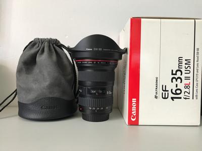 佳能 EF 16-35mm f/2.8L II USM 带包装非常新的专业红圈镜头