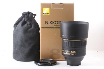 97/尼康 AF-S 85mm f/1.4G 镜头 成色极新 (全套包装)