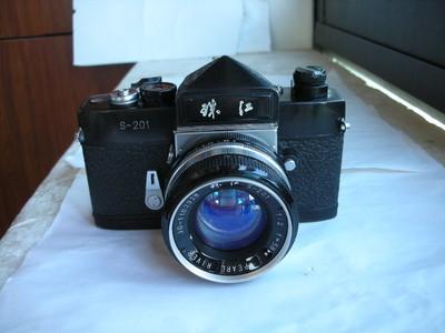 很新珠江S201金属制造单反相机带58mmf2镜头,收藏使用