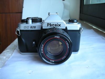 很新凤凰828N单反相机带50mmf1.8金属制造镜头,PK卡口