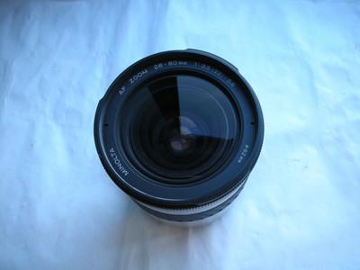 很新美能达白色AF28--80mmf3.5--5.6镜头