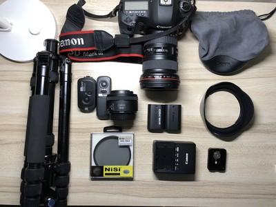 北京地区转让佳能 5D Mark III + 16-35mmF2.8ii + 配件若干