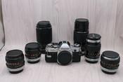 佳能 AE-1+6只FD镜头 套机 0380