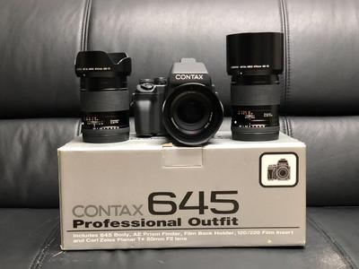 Contax 645 机身及45、80、140镜头