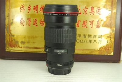 95新 佳能 200mm F2.8L II USM 单反镜头 二代 红圈专业长焦定焦