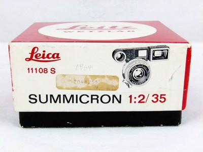 华瑞千亿国际娱乐官网首页器材-带包装的徕卡M 35/2 银色眼睛版八枚玉