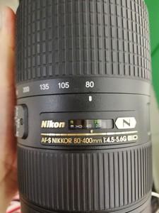 出一支成色非常新的尼康  80-400mm f/4.5-5.6G ED VRII