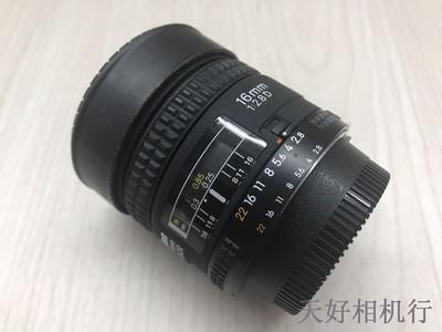《天津天好》相机行 98新 尼康16/2.8D 镜头