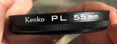 原装日本产肯高kenko PL 55mm线偏振镜多膜95包邮
