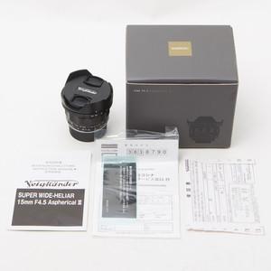 福伦达 15mm/F4.5 Aspherical III 15/4.5三代VM徕卡M口98新#0669