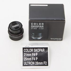 福伦达 COLOR SKOPAR 21mm F4 P 21/4 VM徕卡M口 98新 NO:0327