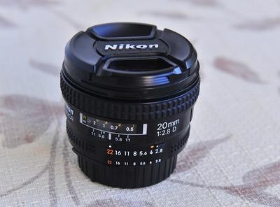 全画幅 尼康 大光定  AF Nikkor 20mm f/2.8D