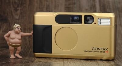 Contax T2 GOLD 金色限量版 高档 袖珍机 胶片机 美品