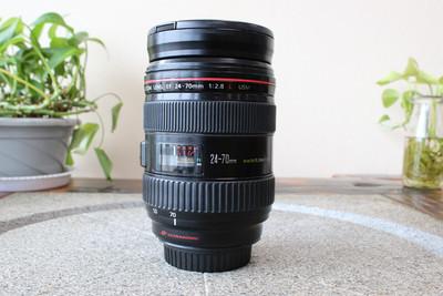 90新二手Canon佳能 24-70/2.8 L USM一代红圈镜头(W05368)武