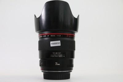 96新二手Canon佳能 35/1.4 L EF 定焦镜头(Y000032)亚