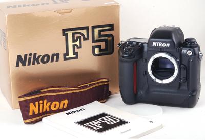 尼康 F5 胶片相机 黑色机身 带包装 #jp19812