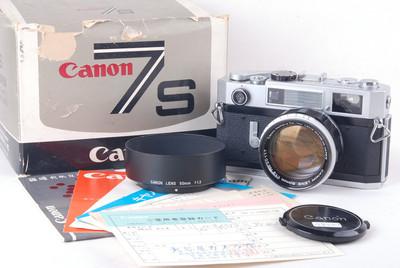 佳能 7s 带50/1.2 LTM L39 徕卡螺口镜头 #jp19427