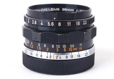Canon 35/2 L Leica LTM螺口 黑色 #hk7763