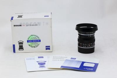【情迷海印店】【全包装】蔡司 Biogon T* 35/2 ZM 黑(NO:9674)