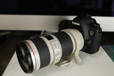 佳能 6D+佳能 70-200 F4 IS + 威尔帝HD4000稳定器