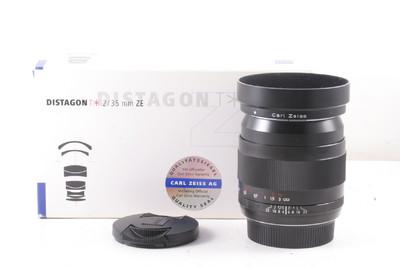 98/蔡司 Distagon T* 35mm f/2  带电子触点 (全套包装) 佳能口