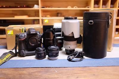 尼康 D800+原装手柄 全套摄材 自用 送卡电池 箱说全