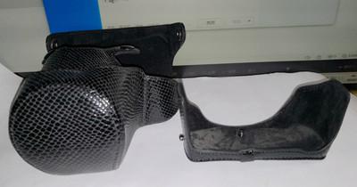 老款压铸蛇皮纹GF8 GF7相机(包)皮套含背带 12-32变焦镜头用