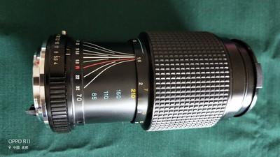 理光50/1.7标头,理光70-210变焦镜头,威达2倍增距镜